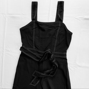 Forever 21 wide leg  jumpsuit wh stitching. Sz M